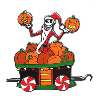 Disney Christmas Pin - Disney Express Train - Jack Skellington