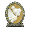 Disney Tinker Bell Birthstone Collection Pin - November - Cameo