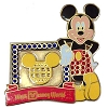 Disney Mickey Pin - Walt Disney World Retro Logo - Jeweled