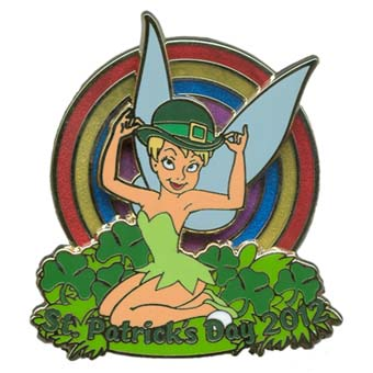 Disney St. Patrick's Day Pin - 2012 - Tinker Bell