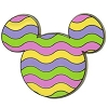 Disney Easter Pin - 2012 Mickey Mouse Icon - Easter Egg Stripes