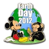 Disney Earth Day Pin - 2012 - Mickey Mouse and Chimpanzee