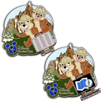 Disney DVC Pin - Disney Vacation Club - Vacation Your Way Chip n Dale