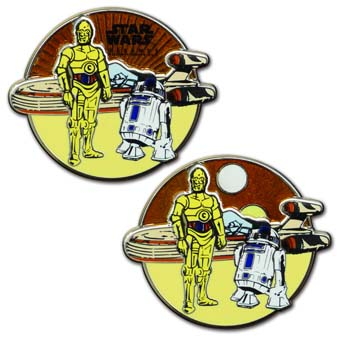 Disney Star Wars Weekend Pin - 2012 Annual Passholder - C-3P0 and R2-D2