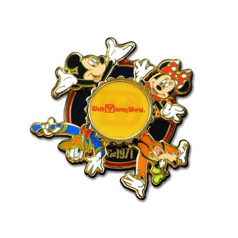Disney Mickey Pin - Walt Disney World Retro Logo  - Spinner