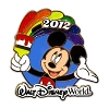 Disney Mickey Pin - 2012 Walt Disney World Resort Rainbow Pin