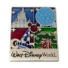 Disney Four Disney Parks Pin - Park Icons - Stained Glass