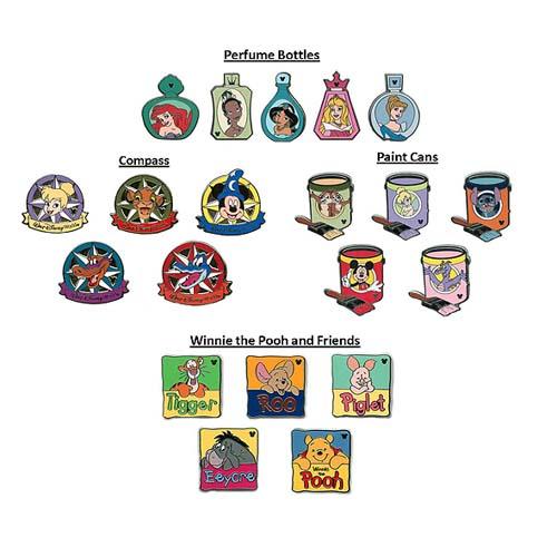 9e04c2183737 Disney Mystery Pin Set - 2012 Hidden Mickey Wave A - 2 Random
