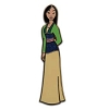 Disney Princess Pin - Princess Mulan - Glitter Dress