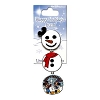 Happy Holidays Snowman Pin - 2012 Minnie and Mickey
