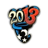 Disney Annual Pin - 2013 Logo - Mickey's Sorcerer Hat