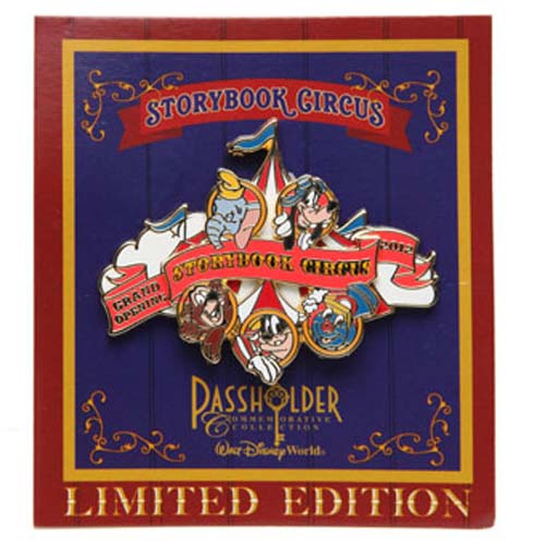 Disney New Fantasyland Pin - Storybook Circus 2012 Passholder