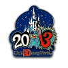 Disney Annual Pin - 2013 Cinderella Castle - Stitch