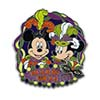 Disney Mardi Gras Pin - 2013 - Mickey & Minnie Mouse