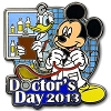 Disney Doctors Day Pin - 2013 - Mickey Mouse