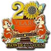 Disney Flower & Garden Festival Pin - 2013 Chip 'n Dale