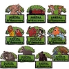 Disney Mystery Pin - Animal Kingdom 15th Anniversary - 10 Pin Set