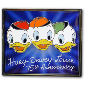 disney nephews pin huey dewey and louie 75th anniversary