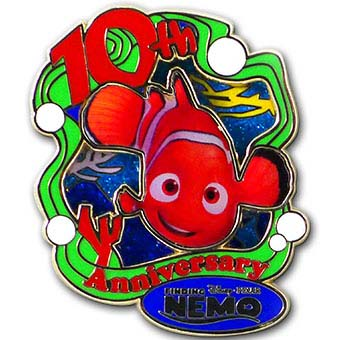 Disney Finding Nemo Pin - 10th Anniversary