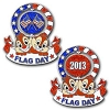 Disney Flag Day Pin - 2013 Chip n' Dale