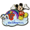 Disney Mickey Pin - 2013 Walt Disney World Resort Rainbow Pin