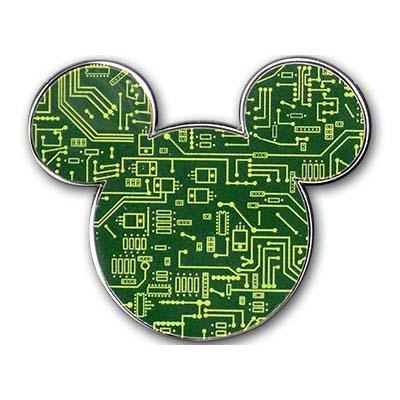 Disney Mickey Icon Pin Circuit Board Mickey Mouse Icon