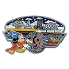 Disney 2013 Retro Art Pin - Believe in Magic - Four Park Icons