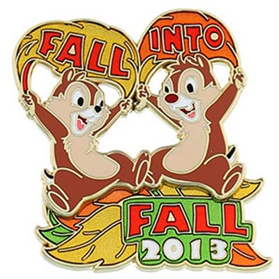 Disney First Day of Autumn Pin - 2013 Fall Into Fall Chip n' Dale