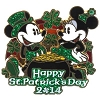 Disney St. Patrick's Day Pin - 2014 - Mickey and Minnie