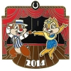 Disney Dapper Days Pin - 2014 Dapper Days - Dale & Clarice