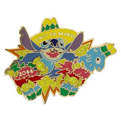 Disney Cinco De Mayo Pin - 2014 - Stitch