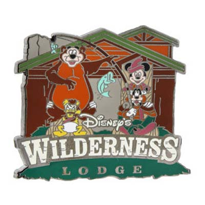 Disney Resort Pin - Wilderness Lodge Mickey and Gang Fishing