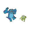 Disney Monsters University Pin Set - Mike and Sulley Running