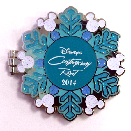 Disney Resort Holidays Pin - 2014 Contemporary Resort - Mickey Mouse