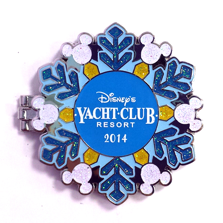 Disney Resort Holidays Pin - 2014 Yacht Club Resort - Donald Duck
