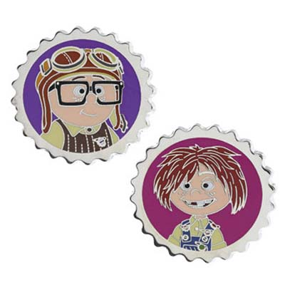 Disney Pixar Up Pin - Carl and Ellie as Kids Pin Set