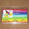 Disney Lanyard Attachment ID Fast Pass Holder Clear Horiz. 3.5 x 2.5