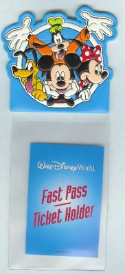 Disney Fastpass Holder - Mickey Mouse Minnie Goofy Pluto
