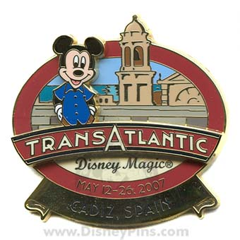 Disney Cruise Line Pin - Transatlantic May 2007 - Cadiz