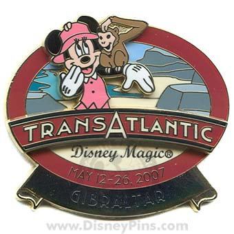 Disney Cruise Line Pin - Transatlantic May 2007 - Gibraltar