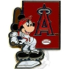 Disney Mickey Mouse Pin - Baseball Player - Los Angeles Angels