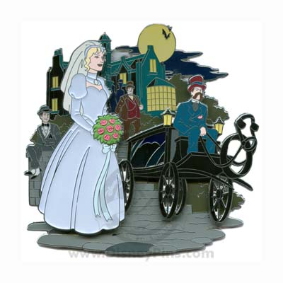 Disney The Haunted Mansion Jumbo Pin - Friday the 13th - Carriage Ride