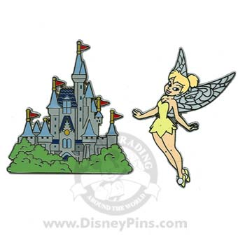Disney Tinker Bell Pin  - Tinker Bell and Cinderella Castle