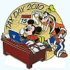 Disney Tax Day Pin - Mickey Mouse Goofy