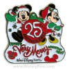 Disney Mickey's Very Merry Christmas Party Pin 25th Anniversary Mickey