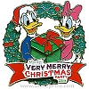 Disney Very Merry Christmas Party Pin - 2009 Donald and Daisy
