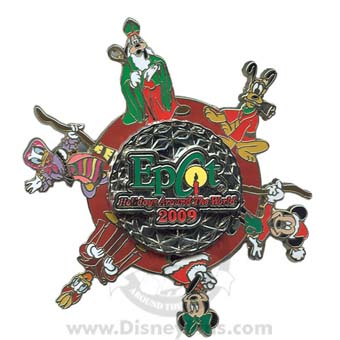 Disney Holidays Around The World Pin - 2009 Jumbo