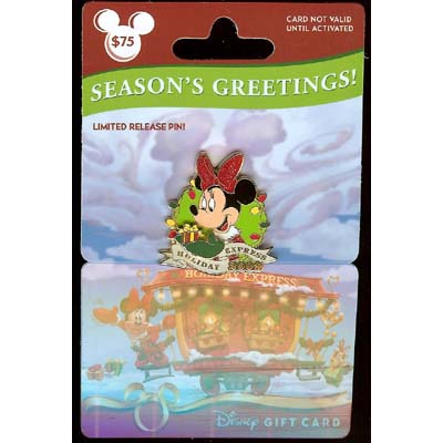 Disney Christmas Pin - Holiday Express 2009 - Minnie Mouse