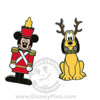 Disney Christmas Pin - Mickey Mouse as Soldier and Pluto as Reindeer