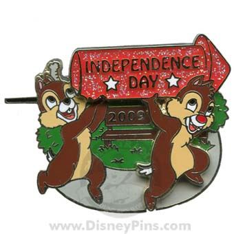 Disney Independence Day Pin - Chip and Dale 2009
